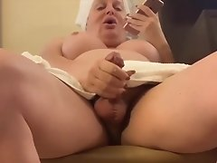 Wendy's having a horny day and makes a phone sex while jacking off