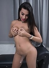 Eveline's thick hard cock's raging hard on is begging for a hot fuck right now