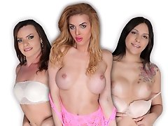 3 sexy ass gals join us for another Fetish Frenzy update. Lara Machado, Sara Oliveira and Jenna Tales are here to show off their goods for us. I get h