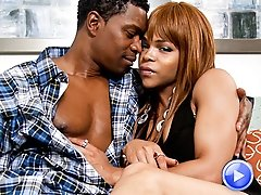 Black shemale beauty gets fucked hard
