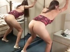 Watch Nikki Montero as she plays with her Ass and Cock in her Selfie Video