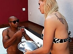 Transsexual Mel Voquel gets her asshole banged by Capoeiro