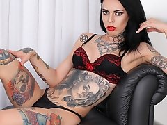 Sexy and tattooed. Gaby Ink makes her debut today with this TAP solo scene. This girl's body is simply a work of art. Take one glance at it and y