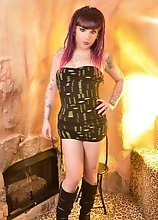 Kelly is Hotter than Fire as She Cums beside the FIreplace