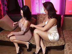 Bianka Thrusts Her Hard Cock Inside Kimberlee's TIght Tranny Pussy