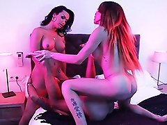 Naughty Eva & Bianka screw a guy
