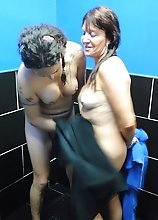 Nikki gets blowed in the shower
