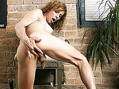 Hot MILF tranny Jasmine staying home all herself