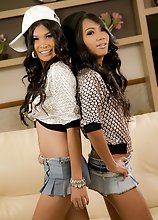 Mint and Bell are hung hip hop Ladyboy lesbians